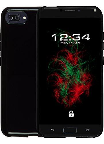 Baluum TPU-T Schwarz Hülle für Asus Zenfone 4 Max (glänzend, schwarz)