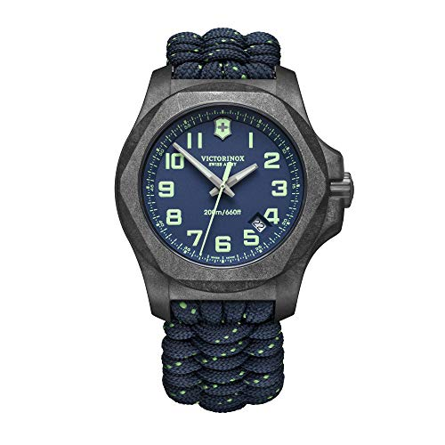 Victorinox Herren I.N.O.X. Carbon - Swiss Made Analog Quarz Carbon Stahl Uhr 241860