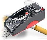 QZH Inyector de cigarrillos, máquina automática de laminación de cigarrillos, mini máquina de inyección de cigarrillos con mayor compartimento de almacenamiento de tabaco para rodar más rápido, rojo (
