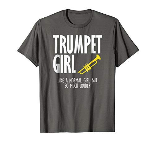 Trumpet Girl So Much Louder Marching Band Girl Gift T Shirt