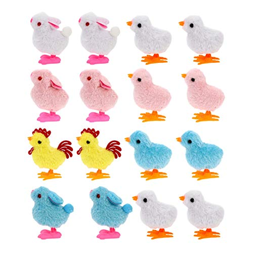 Siamrose Toys Up Toys Pascua Clockwork Toys 16 Pack Surtido Mini Toy Bunny and Chick Divertido Juguetes para niños Favors Favors Goody Bag Reller- Color Aleatorio LTLNB