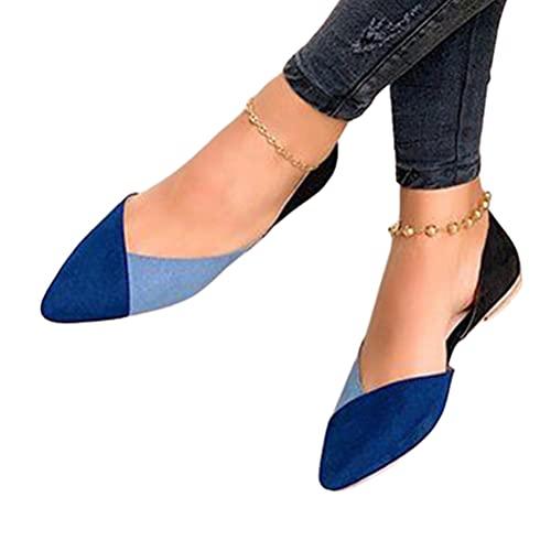 Minetom Zapatos Bailarina para Mujer Zapatos Planos De Ballet Puntiagudo Zapatos De...