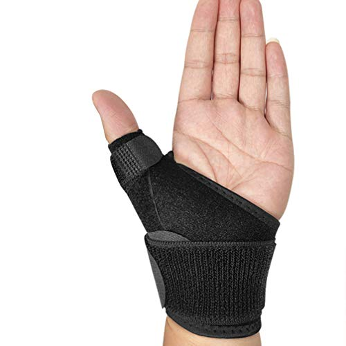 EXCEART Thumb Brace for Arthritis Tendonitis and More Fits Both Right Hand and Left Hand for Men and Women (Black)