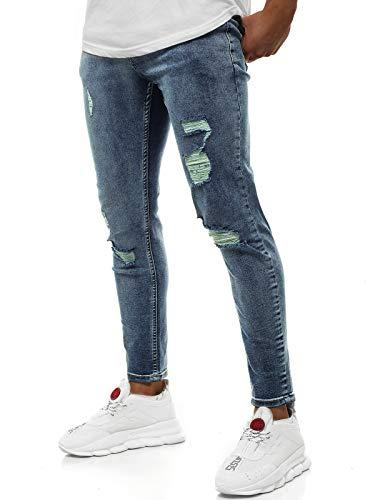 OZONEE heren jeans broek herenjeans jeans spijkerbroek skinny Röhenjeans biker stretch regular slim fit rechte sportjeans cargobroek cargo destroyed look wasbroek DP/521