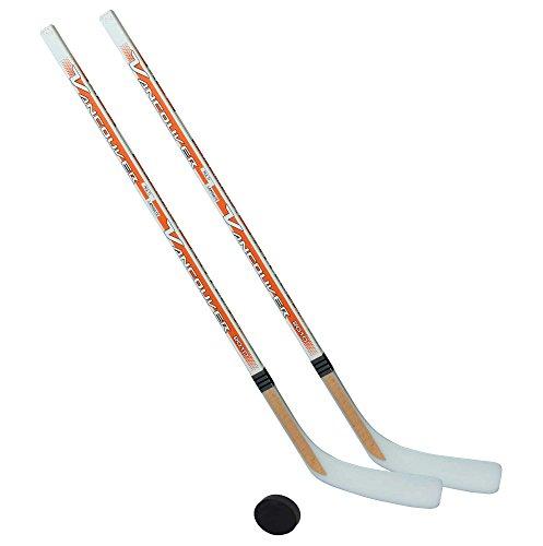 Unbekannt Eishockeyschläger-Set Kids 2: 2 Vancouver-Schläger 95cm gerade Kelle & Puck