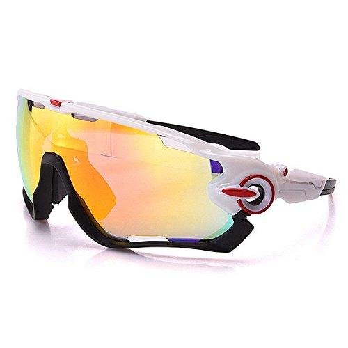 Protección Gafas de sol polarizadas de gran tamaño gafas de sol deportivas Set 3 piezas objetivos intercambiables UV400 Protección de conducción Ciclismo Running Pesca Golf for Hombres/Mujeres lzpff