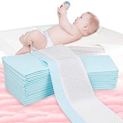 OBloved Disposable Changing Pads for Baby, 20 Pack(18×13inch), Leak-Proof Breathable Incontinence Diaper,Pet Changing Pad,Quick Absorb, Soft Changing Pad Cover for Bed
