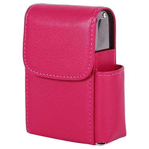 Mumusuki sigarettenkoffer PU lederen tabak zak aansteker houder naam kaart opslag container man vrouw zwart roze