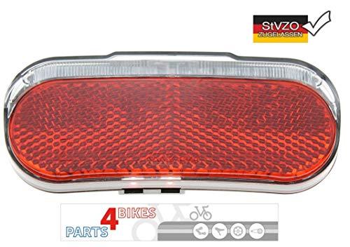 P4B Fahrrad Dynamo-Rücklicht LED Modell 539 mit Standlicht und Reflektor | StVZO Zulassung | zur Montage am Gepäckträger (80 mm Schraubenabstand)
