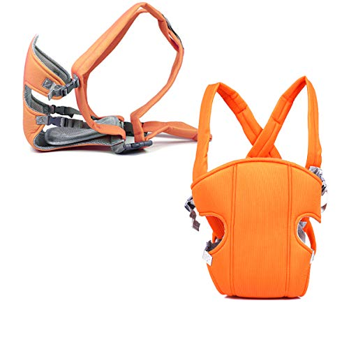 Mochila Portabebés Ergonómica,Xiuyer Múltiples Posiciones Baby Carrier Ajustable Porta Bebé para Recién Nacidos y Bebés(Naranja, 3.5-15 kg)
