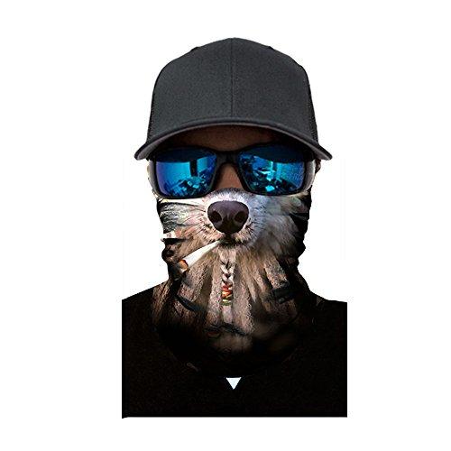 Lazzboy Damen Und Herren Multifunktionstuch,lustig Animalprint Schlauchtuch Halstuch Outdoor Atmungsaktiv Staubschutz Mund-tuch Schlauchschal(C)