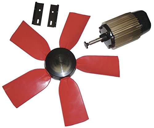 """Multifan 24"""" Corrosion Resistant Exhaust Fan Kit, Number of Blades 5, 1 Phase, Motor RPM 1050-7HY05"""