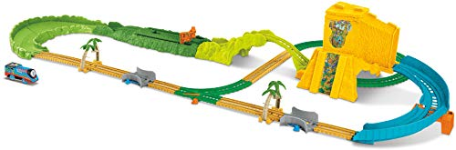 Thomas & Friends- Fisher-Price Track Master Turbo Jungle Vehículo de Juguete, Multicolor (Mattel FJK50)