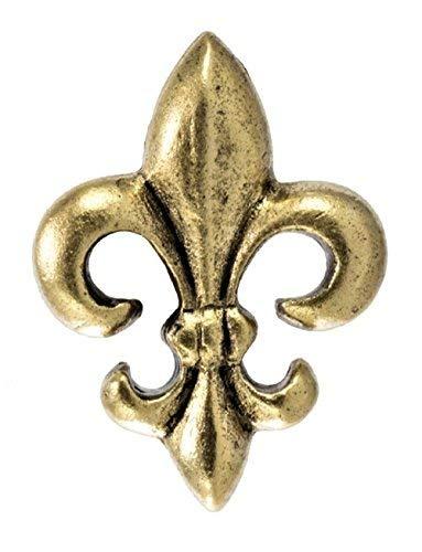 Fleur De Lis Decorative Push Pins, 15 Pieces, Gold T-875-AG