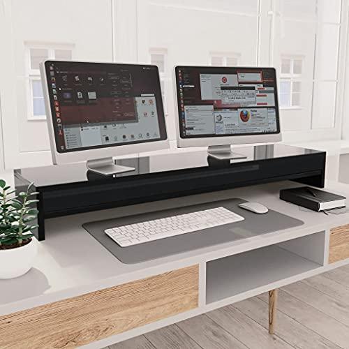 HUANGDANSP Soporte para Pantalla aglomerado Negro Brillante 100x24x13 cm Electrónica Vídeo Accesorios de vídeo Accesorios y Piezas para televisores Soportes para monitores y televisor