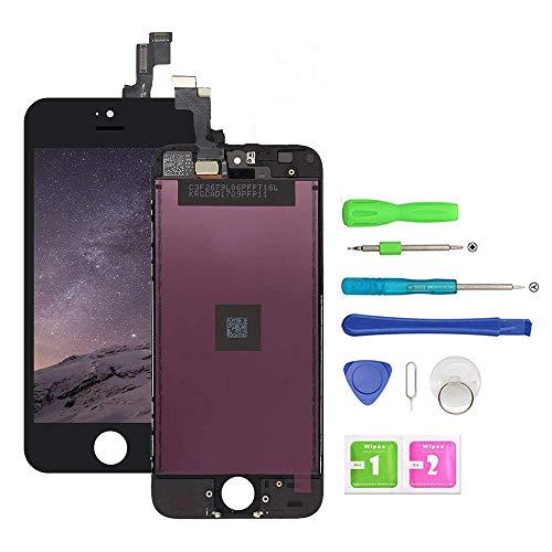 EXW Écran LCD Tactile de Remplacement pour iPhone 5S, LCD Display Vitre Tactile Complet Remplacement d'écran avec Kit de Réparation (4.0 Pouces)