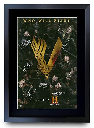 HWC Trading A3 FR Vikings Katheryn Winnick Gifts gedrucktes Autogramm für TV Fanartikel-Fans – A3 gerahmt