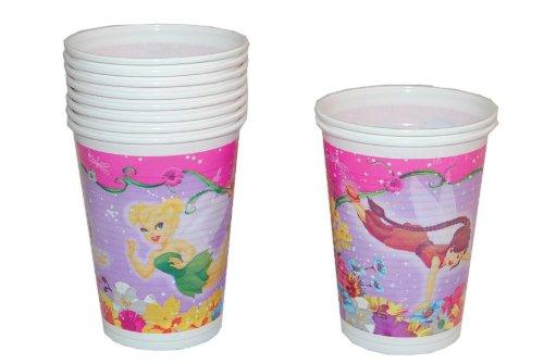 alles-meine.de GmbH 10 STK. Plastikbecher Disney Tinkerbell Fairies Kinderparty Plastik Becher Pappbecher Fairy Mädchen