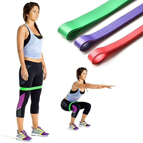 KOLIU 12 Resistance Bands Natural Latex Expander Power Yoga Rubber Loop Band Exercise Bands for Home Fitness & Gym Workouts