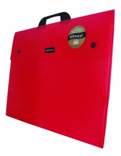 Dekko - Cartella rinforzata, formato A2, colore: Lampone