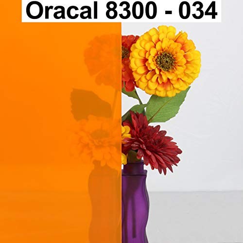 8,05€/m² Oracal Transparente Fensterfolie 8300 034 Orange 63 cm Breite