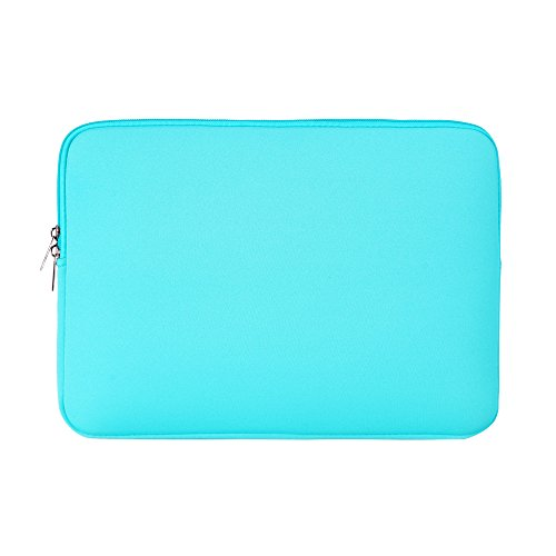 RAINYEAR 14 Inch Laptop Sleeve Case Protective Soft Padded Zipper Cover Carrying Computer Bag Compatible with 14' Notebook Chromebook Tablet Ultrabook(Blue)