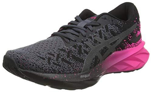 ASICS Womens Dynablast Running Shoe, Black/Pink Glo,40.5 EU