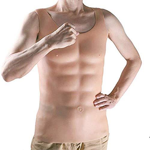 DZTBX Halfronde Crew Neck Muscle Wear Gemakkelijk te dragen Vest Rits Sectie acht pack Abs Gepersonaliseerde Dressing Party