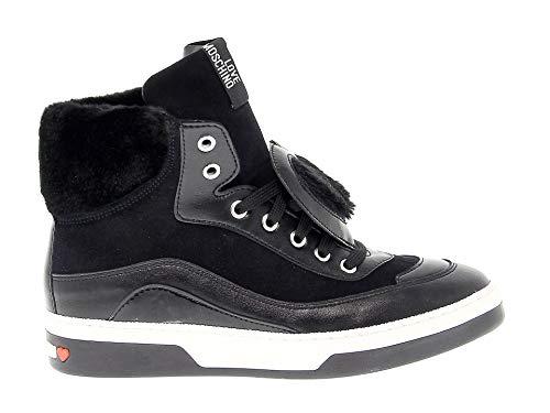 Love Moschino Luxury Fashion Femme 15343 Noir Cuir Baskets Montantes | Printemps-été 20