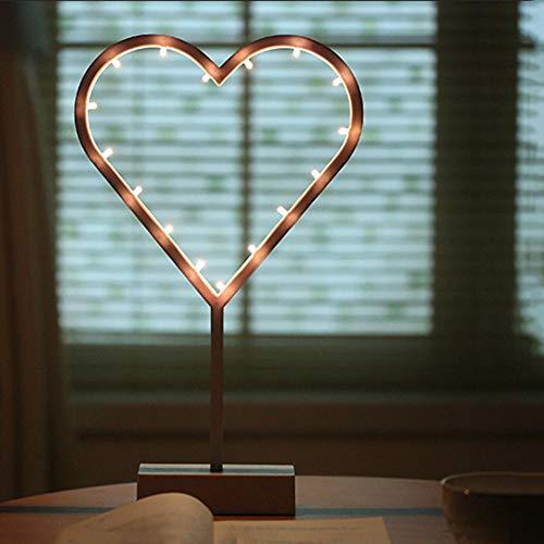 XDLUK Enfants De Noël Veilleuse Intérieur Batterie Lampe De Table Décoration Murale Lampe De Chevet pour Fonctionner Décor De Fête De Mariage De Noël pour Les Enfants,Heart