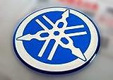 Adhesivos resinados con efecto 3D – Emblema Logo Sticker YAMAHA Kit de 2 piezas azul y blanco – para depósito o casco