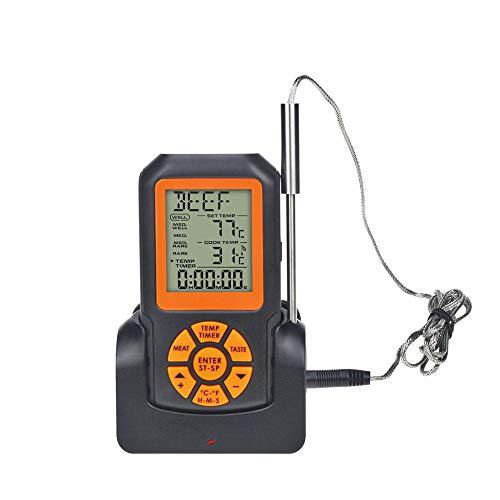 termometro cucina e torcia JAY-LONG Termometro Digitale per Carne con Sonda da 5