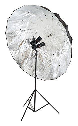 Lastolite LL LU7908F Mega Ombrello Parabolico, Diametro 157 cm, Argento