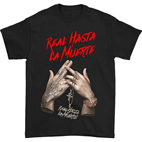 HUO ZAO Anuel AA Real Hasta La Muerte Shirt Fashion Men's t Shirts top Black L