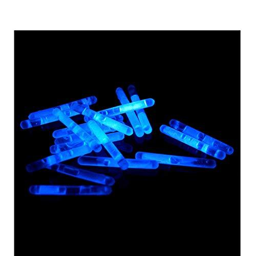 Power Lightz 20 Stück Micro Mini Knicklichter/Bissanzeiger - Vorteilspack - in Blau Leuchtend inklusive 10 Verbinder - 39 mm x 4,5 mm - für Luftballons, als Schmuck oder Dekoration
