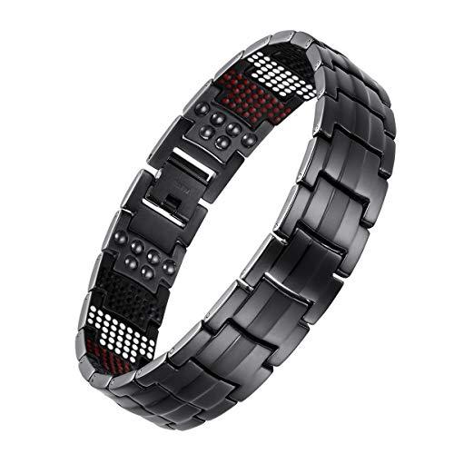 New Mens Titanium Strong 3000g Magnetic Bracelet Free Adjuster Velvet Gift Box