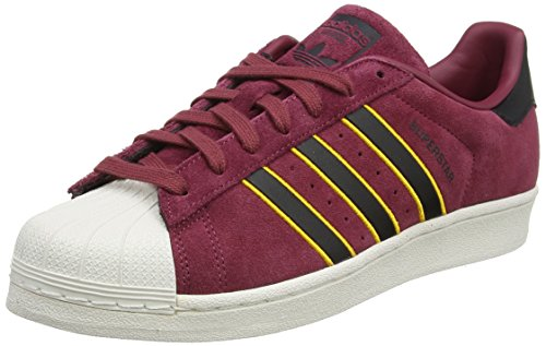 adidas Superstar, Zapatillas de deporte para Hombre, Rojo (Red/Core Black/Yellow Adiprene 0), 39 1/3 EU