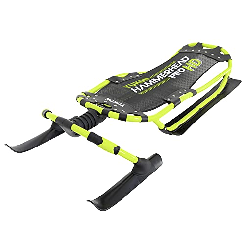 "Yukon Hammerhead Pro HD Steerable Snow Sled with Aluminum Frame , Green ,51"" x 22.5"""