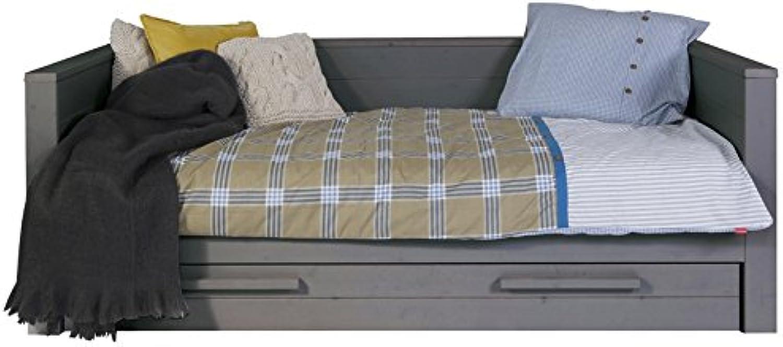 Alfrot & Compagnie Kinderbett Sofa Massivholz 90x 200grau Stahl