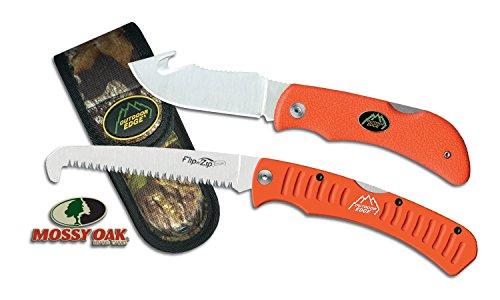 OUTDOOR EDGE Grip Hook Kit de Couteau + scie Mixte Adulte, Orange/Gris, 112 mm