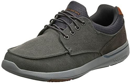 Skechers Elent-Mosen, Zapatillas Hombre, Gris (Char), 39.5 EU