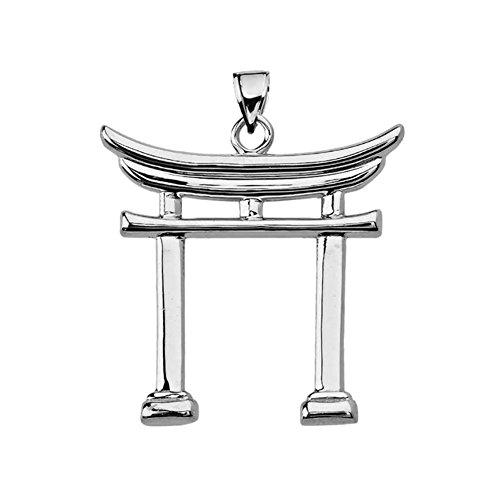 Fine Sterling Silver Japanese Torii Gate Pendant