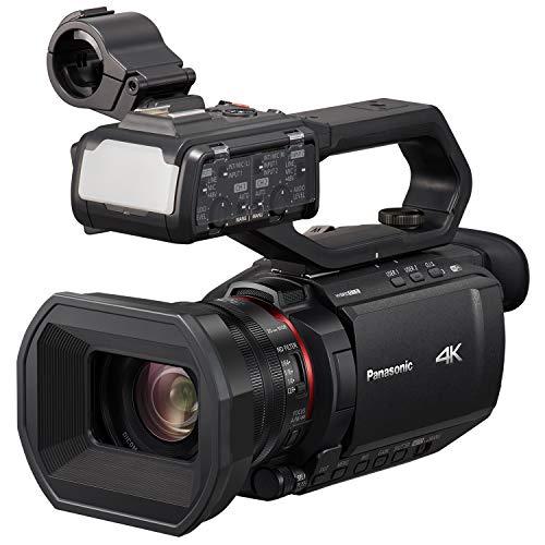 Panasonic X2000 4K Professional Camcorder with 24x Optical Zoom, WiFi HD Live Streaming, 3G SDI Output and VW-HU1 Detachable Handle, HC-X2000 (USA Black)