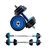 Dumbbells Weight Set 44LB Adjustable Dumbbell Weights Exercise & Fitness Equipment w/ 4 Spinlock Collars & 2 Connector Options for Women & Men Gym Home Strength Bodybuilding Training