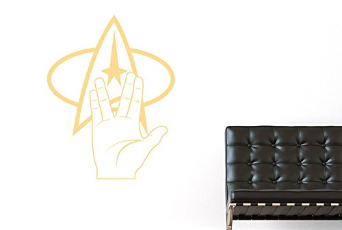 CUT IT OUT Star Trek-Logo und Hand, 72 x 57 cm, Beige