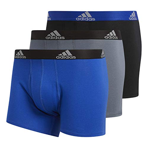 adidas Men's Stretch Cotton Boxer Trunk (3-Pack) - Ropa Interior Hombre