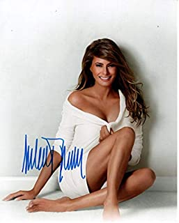 MELANIA TRUMP signed autographed photo WIFE OF DONALD