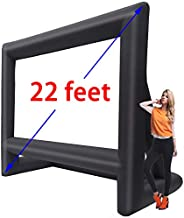 GYUEM 22' Inflatable Outdoor Projector Movie Screen - Huge Air-Blown Cinema Projection Screen Package with Rope, Blower + Tent Stakes - Great for Outdoor Party Backyard Pool Fun (22 feet) (22ft)