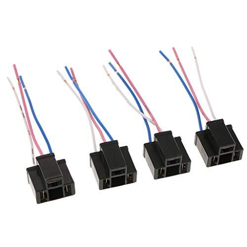 B Blesiya 4pcs Adaptateur Femelle Prise de Courant Connecteur d'Ampoule Phare H4