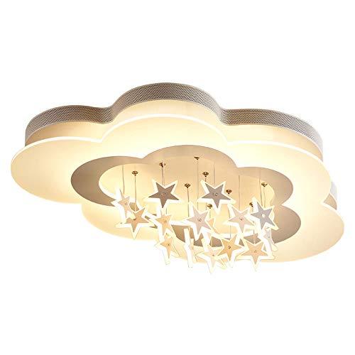 COCOL& Deckenleuchte Kreative Deckenleuchte Deckenbeleuchtung, LED Deckenlampen Creative Wolkenform Sternanhänger Deckenstrahler Kinder Decke Licht Kinderzimmer Deckenlampe [Energieklasse A+]